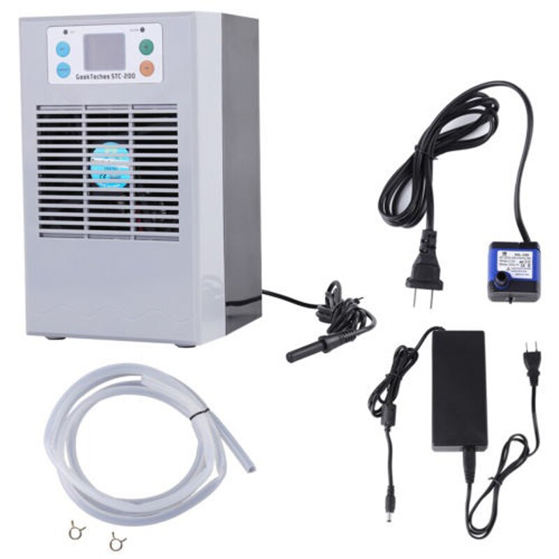 Refrigerador de agua de acuario con pantalla LCD de 72W y 100 W, dispositivo de refrigeración para estanque, equipo de refrigeración de temperatura constante para tanque de peces con bomba