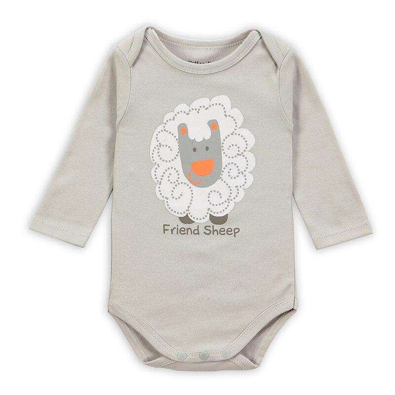 ¡Novedad de Otoño de 2017! Pelele de algodón de manga larga para bebé, ropa Infantil para niñas y niños, Mono para niños