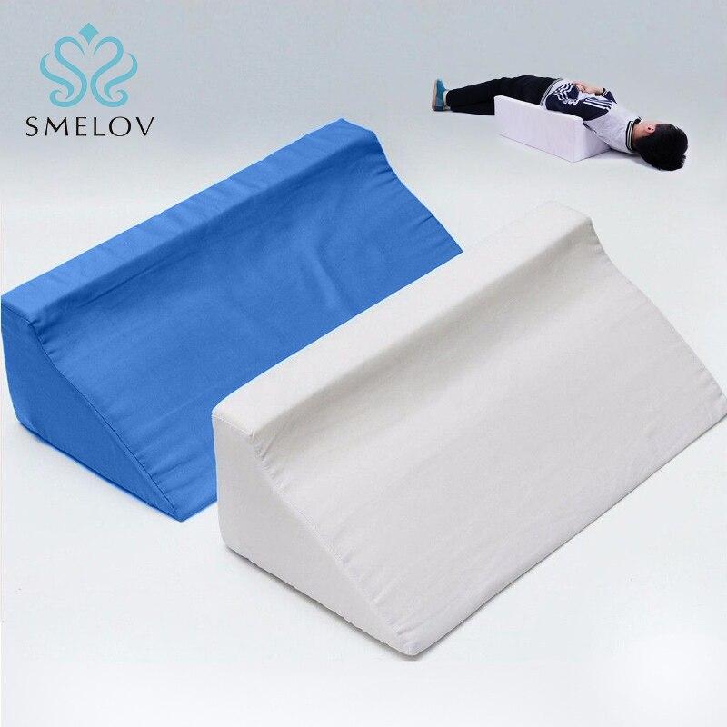 Almohadillas de espuma para el cuidado de la salud del hospital con reflujo de ácido y cuña para dormir en la cama almohadillas de apoyo Lumbar para elevación de la pierna