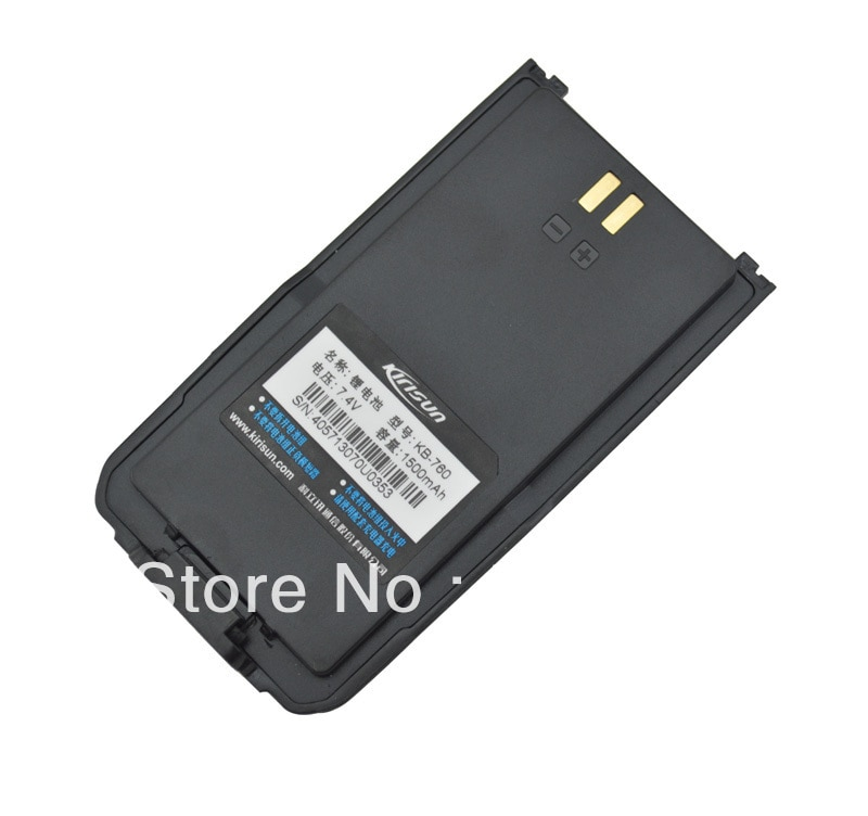 Freeship kisun batería KB-760 DC7.4V 1500mAh Li-ion Paquete de batería para kisun S760 FP460 radio Digital bidireccional