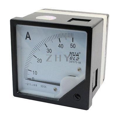 6L2 modelo 80mm x 80mm Panel cuadrado AC 50/5A 100/5A 150/5A 200/5A 250/5A 300/5A 400/5A 500/5A 750/5A 800/5A medidor analógico amperímetro