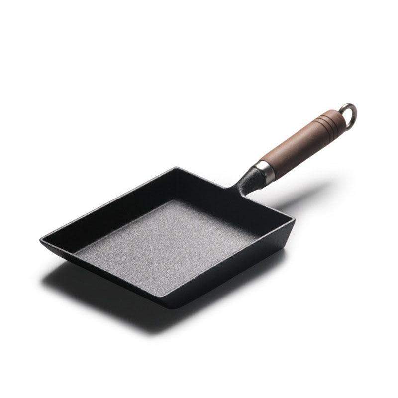 GLANYOMI سميكة اليابانية عجة عموم/البيض عموم غير عصا مستطيل مقلاة صغيرة Tamagoyaki مقلاة من حديد الزهر تجهيزات المطابخ