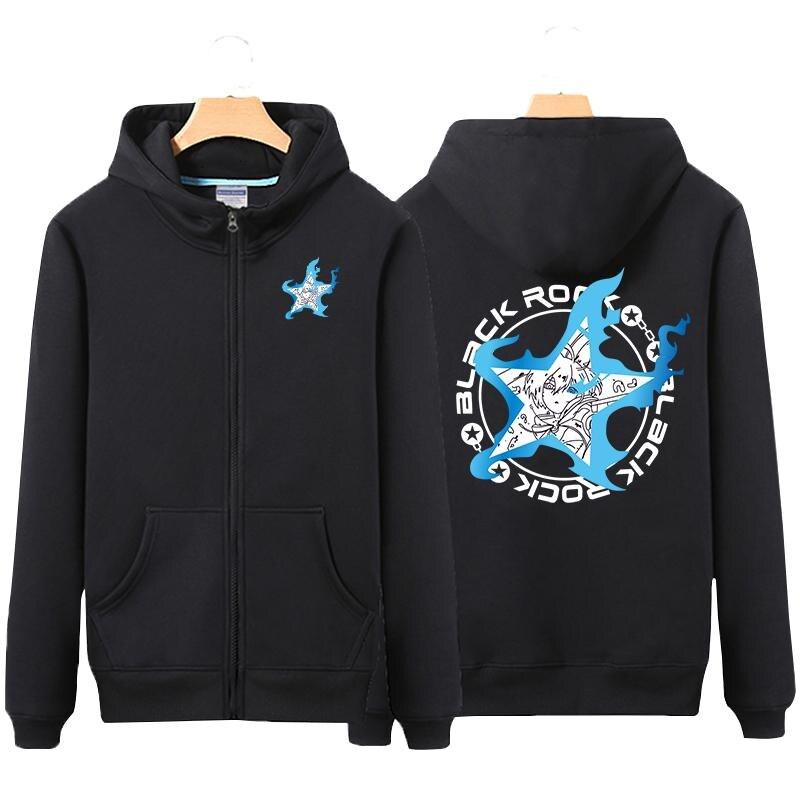 High-Q Unisex BLACK ROCK SHOOTER Hooded Hoodie Cotton Loose Casual BLACK ROCK SHOOTER Cardigan Jacket Coat Top Sweatshirts