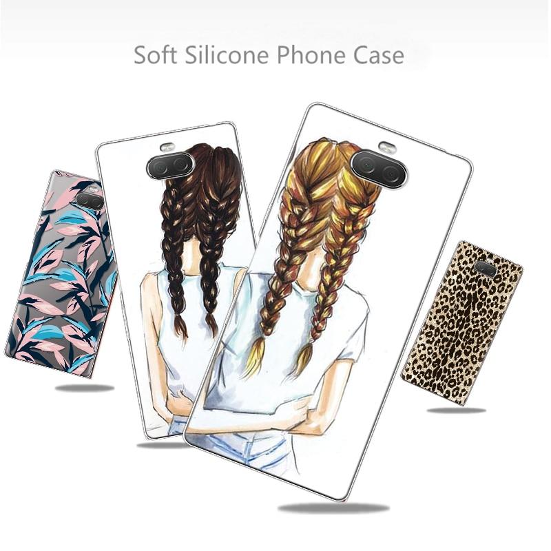 Funda de teléfono a la moda para Sony Xperia L2 XZ1 XZ2 Z3 Z5 Compact X XA1 XA2 Ultra Plus Fundas para Sony Xperia XZ 10 funda de TPU
