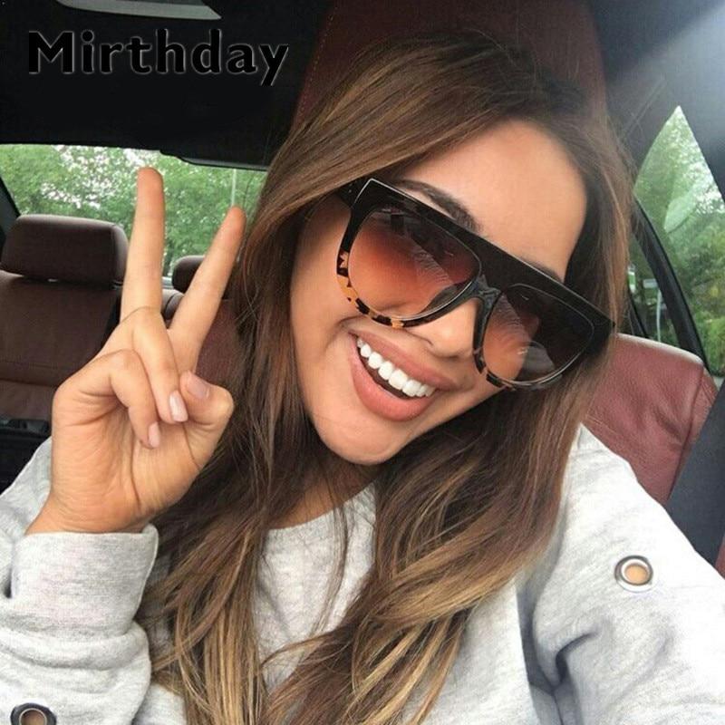 Kim Kardashian gafas de sol mujer Vintage Retro plano superior escudo gradiente negro gafas de sol piloto de lujo diseñador gafas grandes