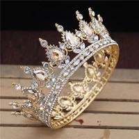 crystal vintage royal queen king tiaras and crowns menwomen pageant prom diadem hair ornaments wedding hair jewelry accessories
