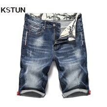 KSTUN 2020 Summer New Men's Stretch Short Jeans Fashion Casual Slim Fit High Quality Elastic Denim Shorts Male Brand Clothes