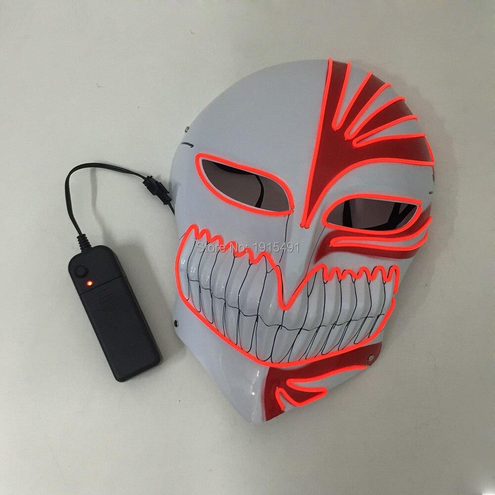 Сценический дизайн мигающая Светодиодная лента череп ударная Маска для костюма