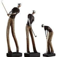 Escultura artística de atleta de Golf americano figura estatua arte de resina y artesanía decoración del hogar Accesorios para la sala de estar R1385