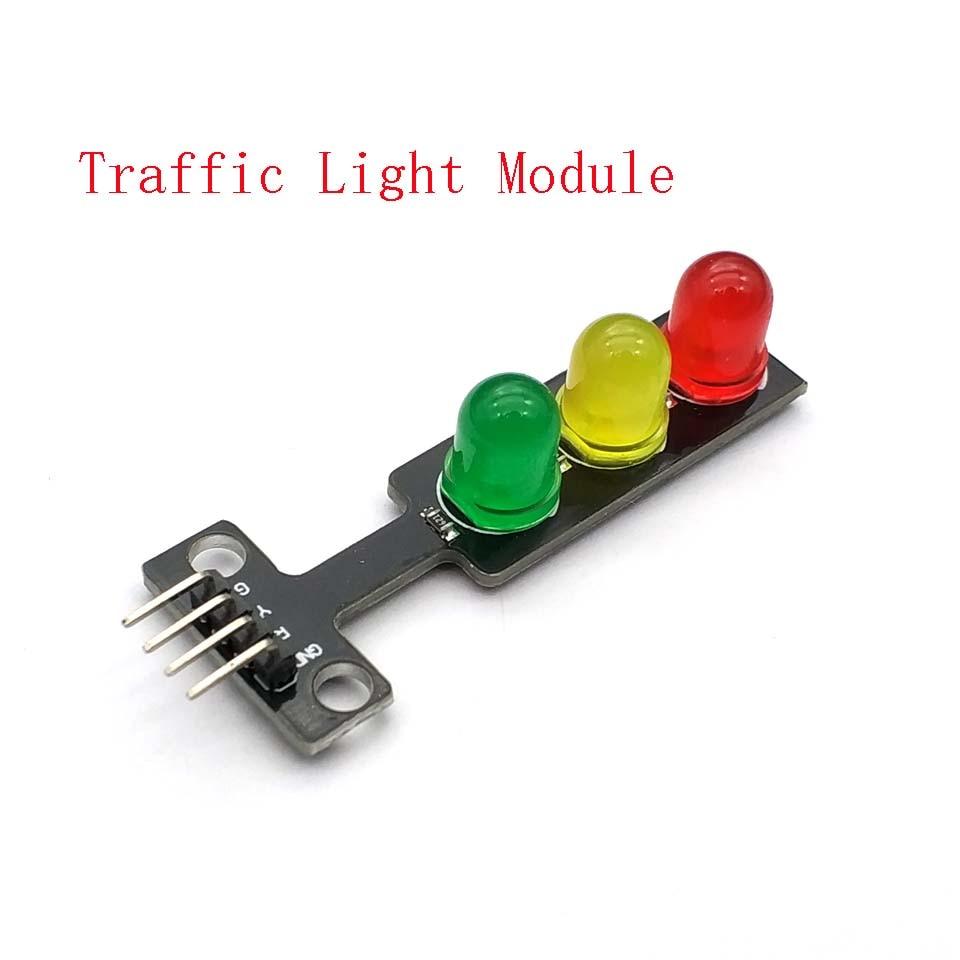 Mini 5V Traffic Light LED Display Module for Uno Red Yellow Green 5mm LED Mini-Traffic Light for Traffic Light System Model