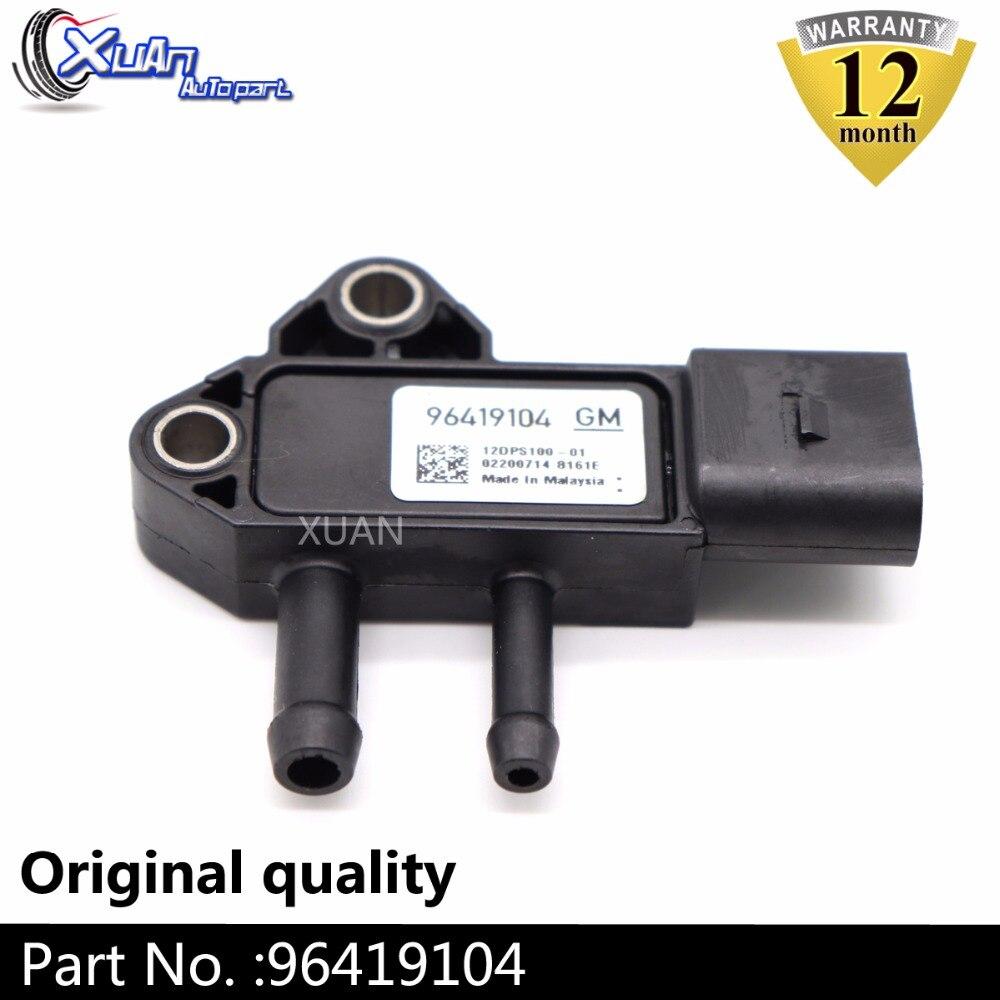 XUAN 96419104 DPF de Sensor de presión diferencial Sensor para Chevrolet Captiva C100... C140 2,0 D Opel Antara 2,0 CDTi