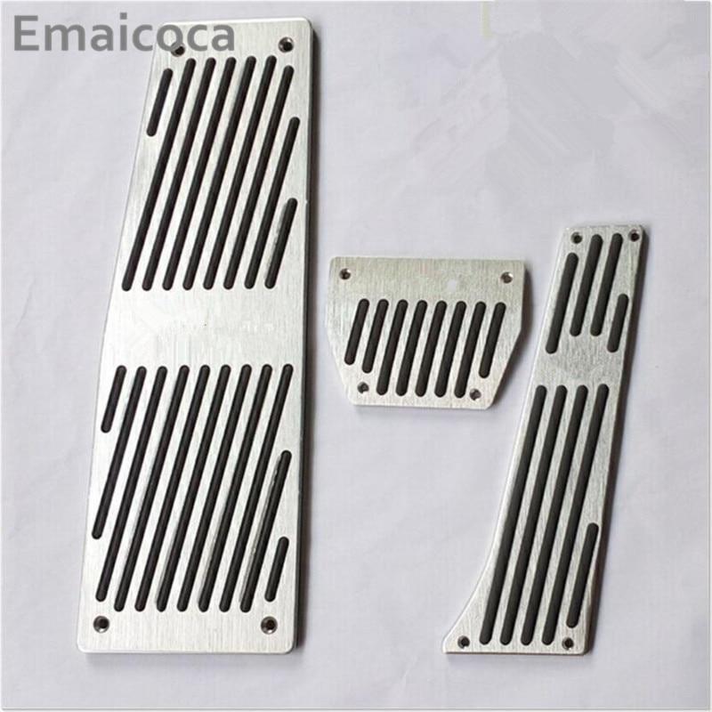 Estilo de coche negro plata aleación de aluminio reposapiés pedal de acelerador funda de pedal de freno para BMW E60 E61 E63