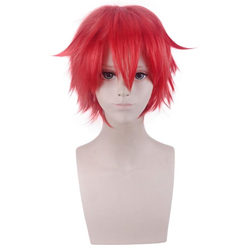 Anime SSSS. GRIDMAN Hibiki Yuta peluca corta roja Cosplay disfraz de pelo sintético resistente al calor hombres mujeres pelucas Cosplay