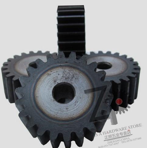 2 cnc equipo de 25-30 diente espolón engranaje piñón industria de maquinaria 45 acero cnc piñón Frecuencia de endurecimiento