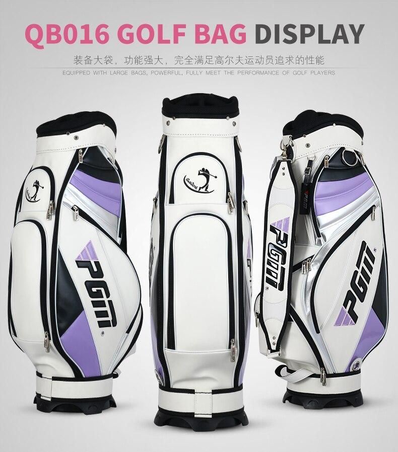 Haute qualité! sac de Golf complet pour femmes PGM sac de Golf, sac de golf pour le personnel. imperméable. Super Anti-Friction PU