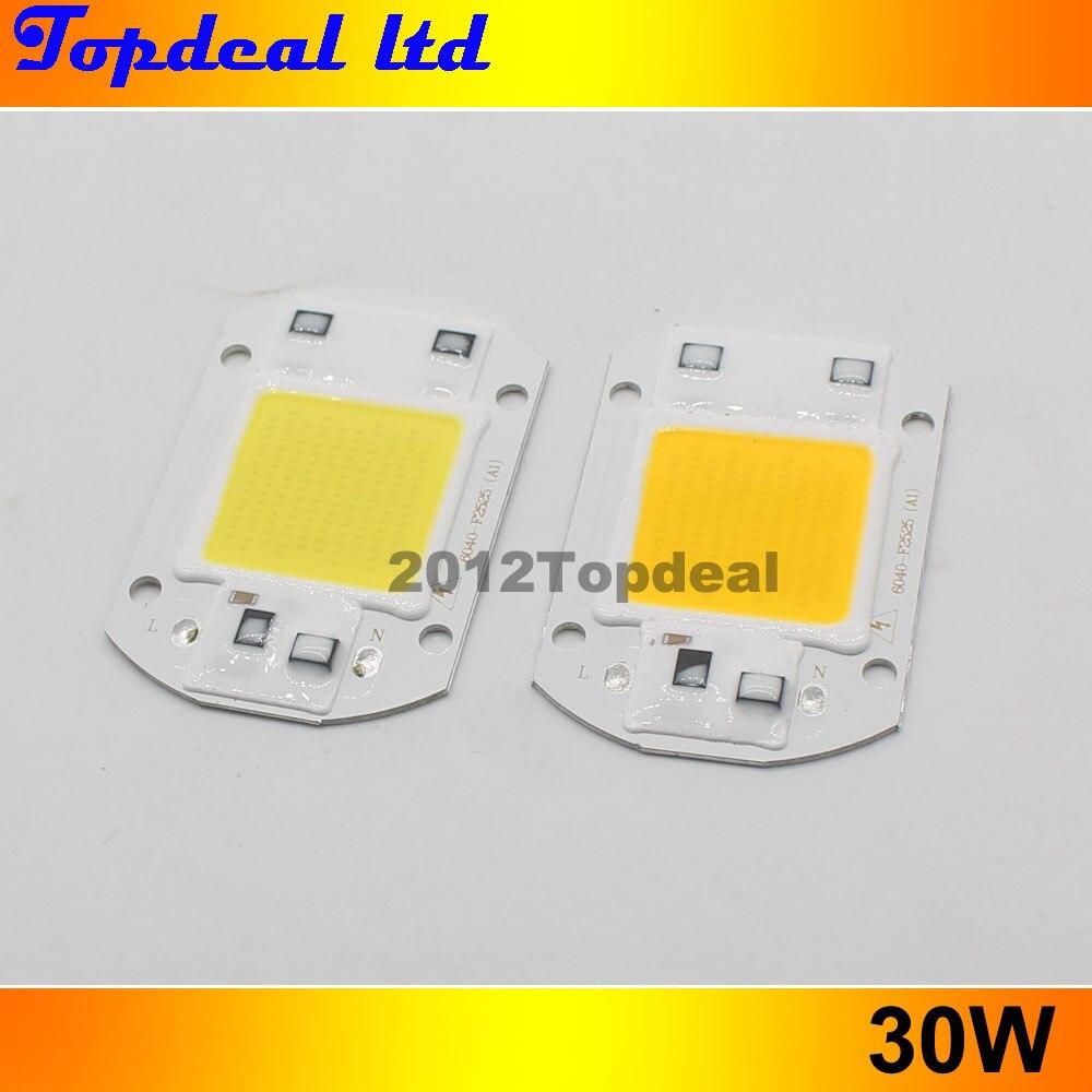 2 unids/lote controlador IC integrado inteligente 220V 110V 20W 30W 50W proyector LED tipo mazorca Chip, blanco cálido/frío espectro completo 380-840nm