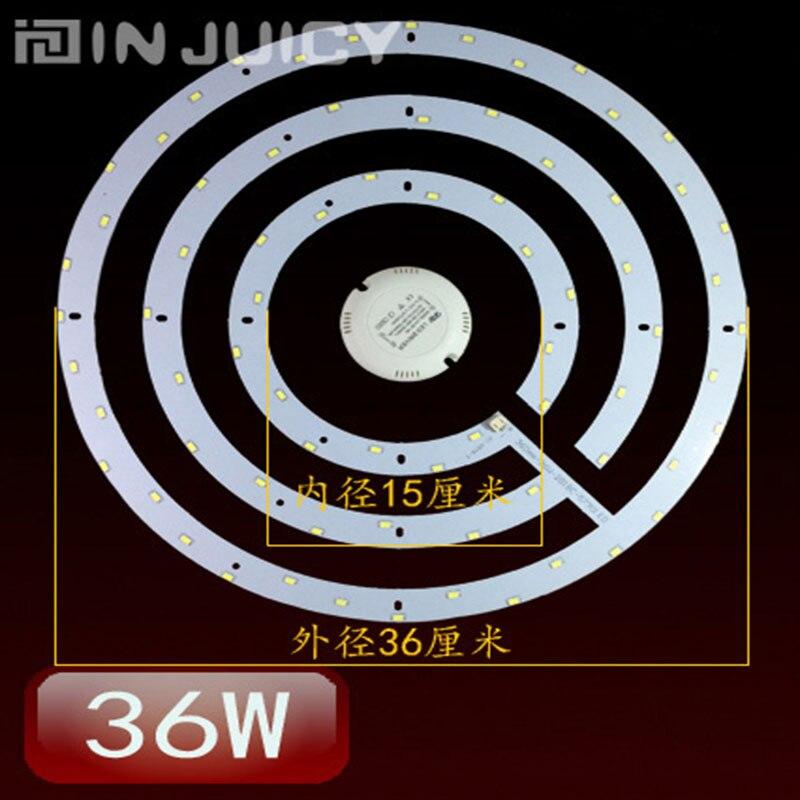 Rond 36 W 360 MM 5730 SMD ampoule plafonnier 3 plaque de cercle remplacer le panneau avec transformateur et aimant AC110V-240V