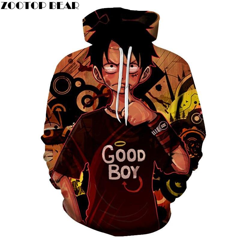 Una pieza Good Boy 3D impreso hombres pulóver sudadera ropa para hombres personalizado pulóver sudadera Streetwear sudadera ZOOTOP oso