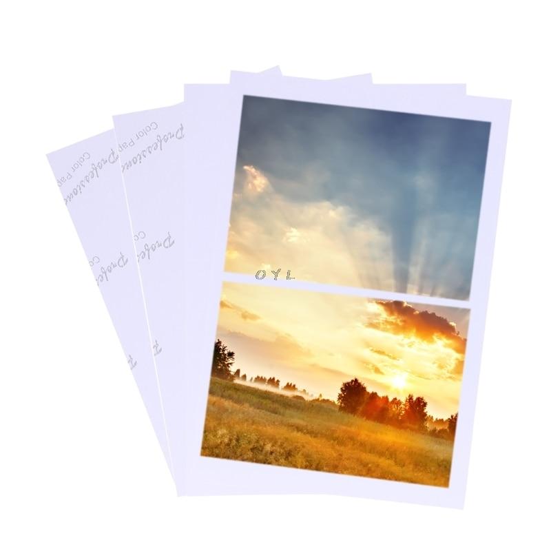 100 листов Глянцевая 4R 4x6 фотобумага для бумага для струйных принтеров