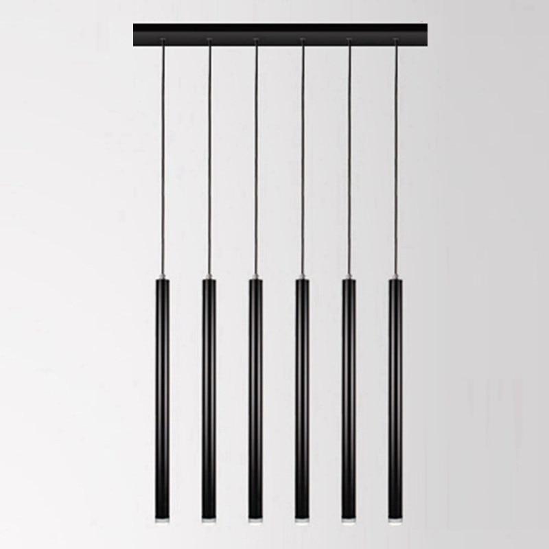 LukLoy-مصباح معلق على شكل أنبوب ، تصميم حديث ، إضاءة داخلية زخرفية ، مثالي للمطبخ أو غرفة الطعام أو غرفة المعيشة أو المتجر أو البار.