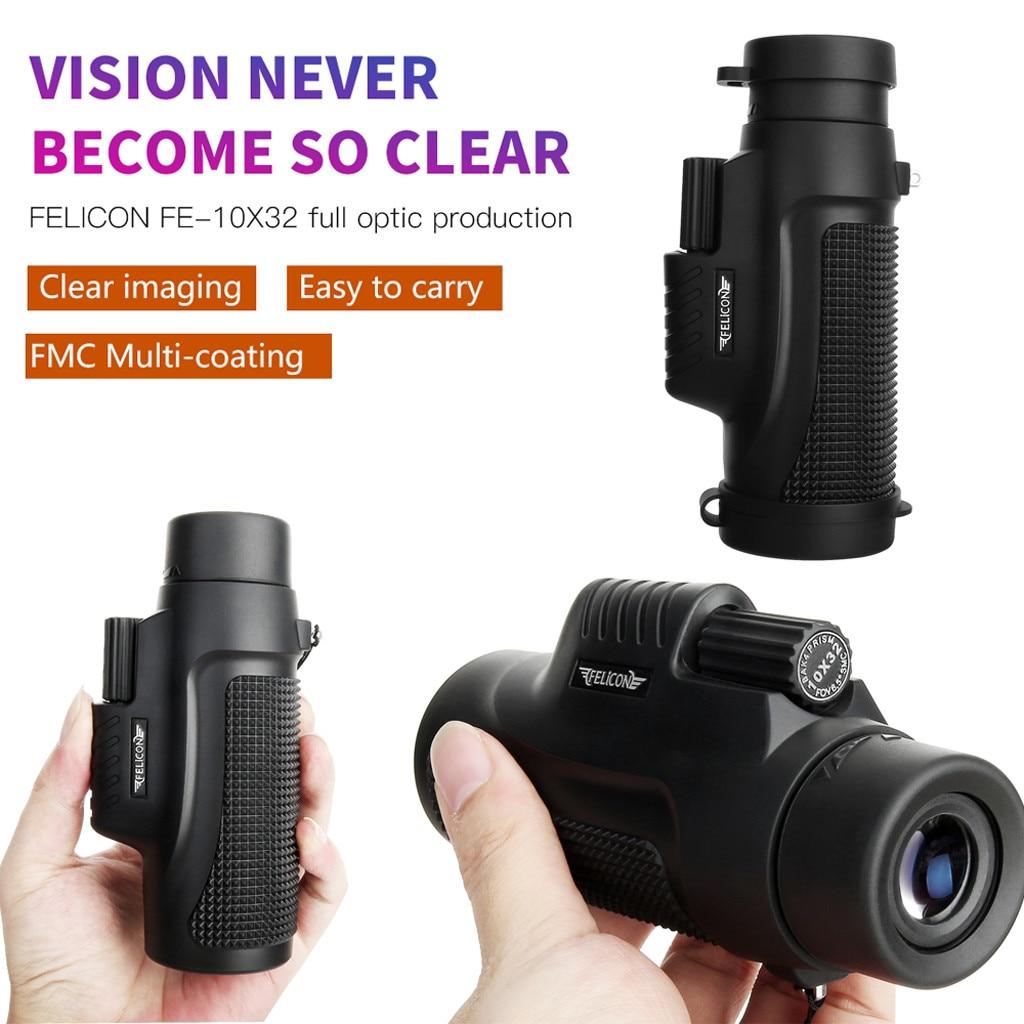 Caza visión nocturna al aire libre Mini 10X32 visión nocturna portátil telescopio Monocular caza visión nocturna Focus telescopio # g30