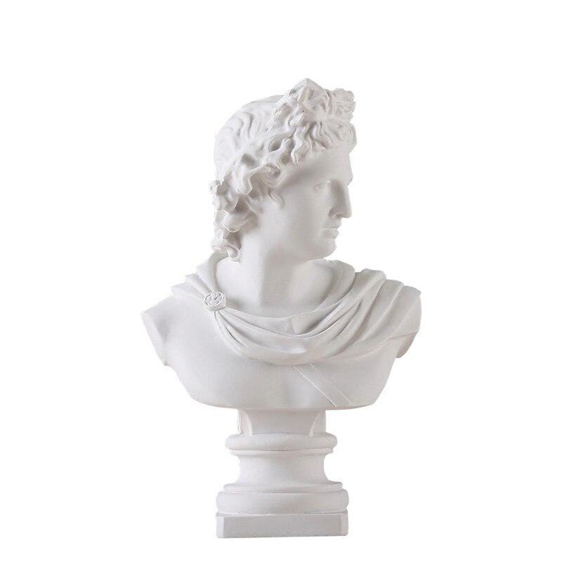 Statue de la mythologie grecque Apollo   Portraits tête buste en gypse, Statue dadelos, décoration de la maison, résine Art et croquis artisanal, pratique 31cm L1596