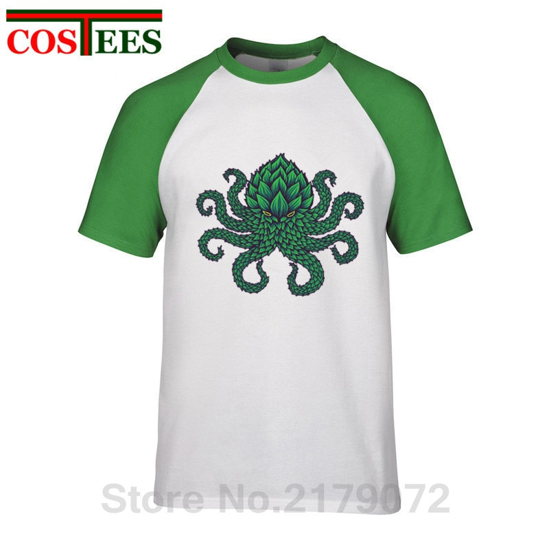 Camiseta Retro Hoptopus para hombre, camiseta de Lovecraft Call of Cthulhu, camiseta de pulpo alienígena, camiseta Cthulhu, camiseta de hombre 2019, chulas de hombre baratas