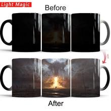 Game of thrones tasse dragon fire la fin commence tasse froid chaud chaleur changeante couleur magique tasse thé tasses meilleur cadeau pour vous-même