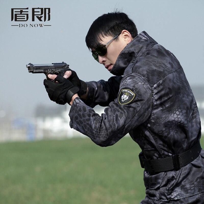 Uniforme militar preto falcão python uniforme militar tático combate jaqueta carga calças terno cs fardas militar roupas do exército
