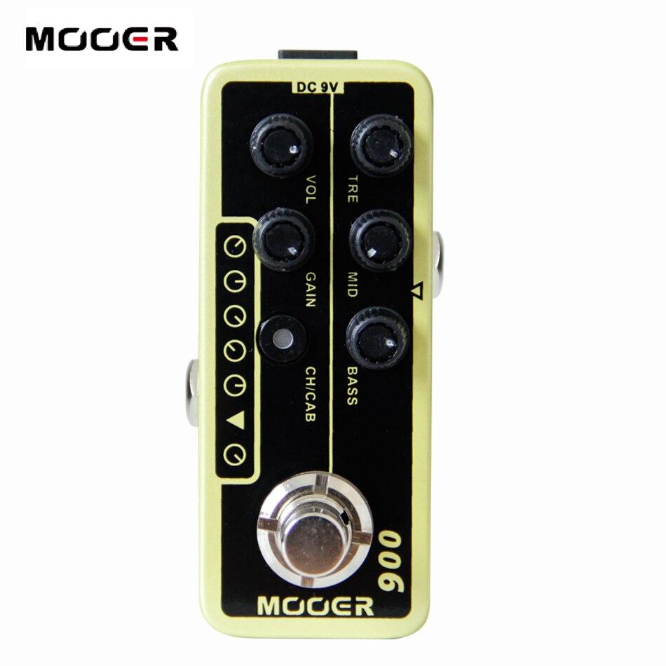 Mooer 006 Classic Deluxe pedal de efecto guitarra eléctrica accesorios de guitarra de alta calidad de doble canal preamplificador independiente 3 banda EQ