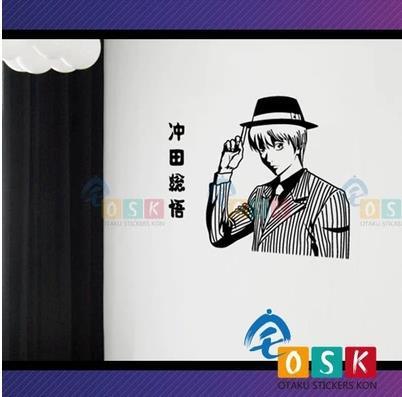 Anime GINTAMA Okita Sougo vinilo pegatina decoración de dibujos animados