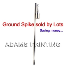 Base de pointes pour plume   kit de pôles pour banderoles en acier chromé 500mm ,0.95KG, vendu par des Lots