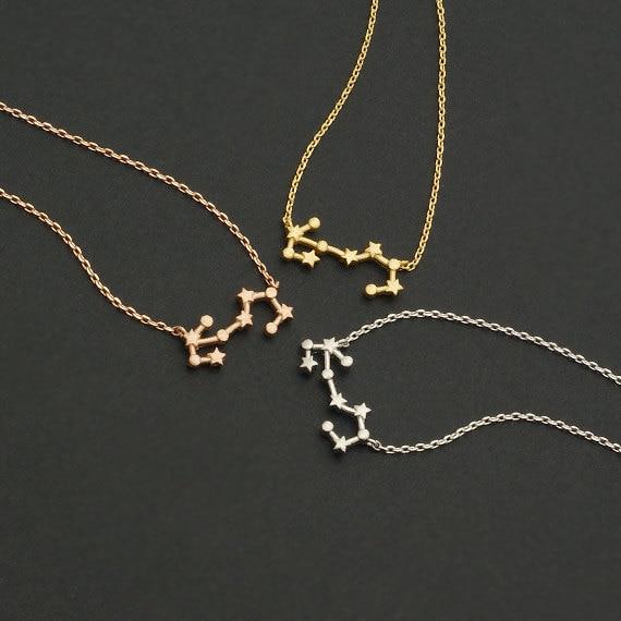 Margaritas 10 unids/lote signo del zodiaco constelación de Escorpio collar de horóscopo astrología colgante collares regalo de cumpleaños