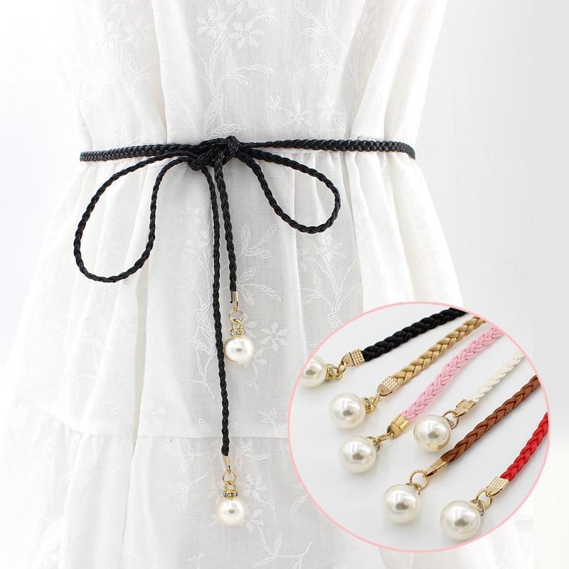 LNRRABC  new arrivel 1pcs Buckles Accessories New Waistband Belt Waist  Pearl  Summer Bead Women Fashion Strap Belts