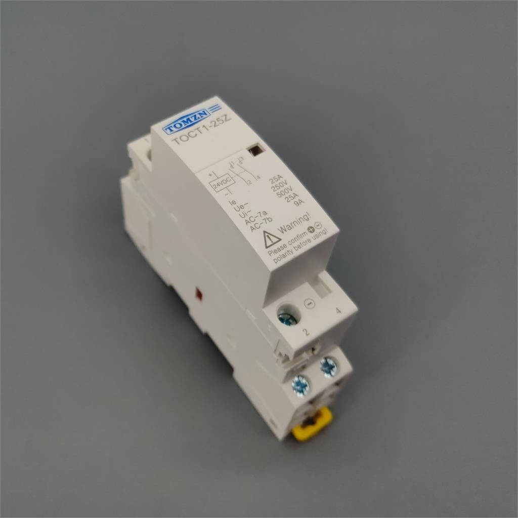 Contactor modular TOCT1 2P 25A DC 12V 24V 220V/230V 50/60HZ para el...