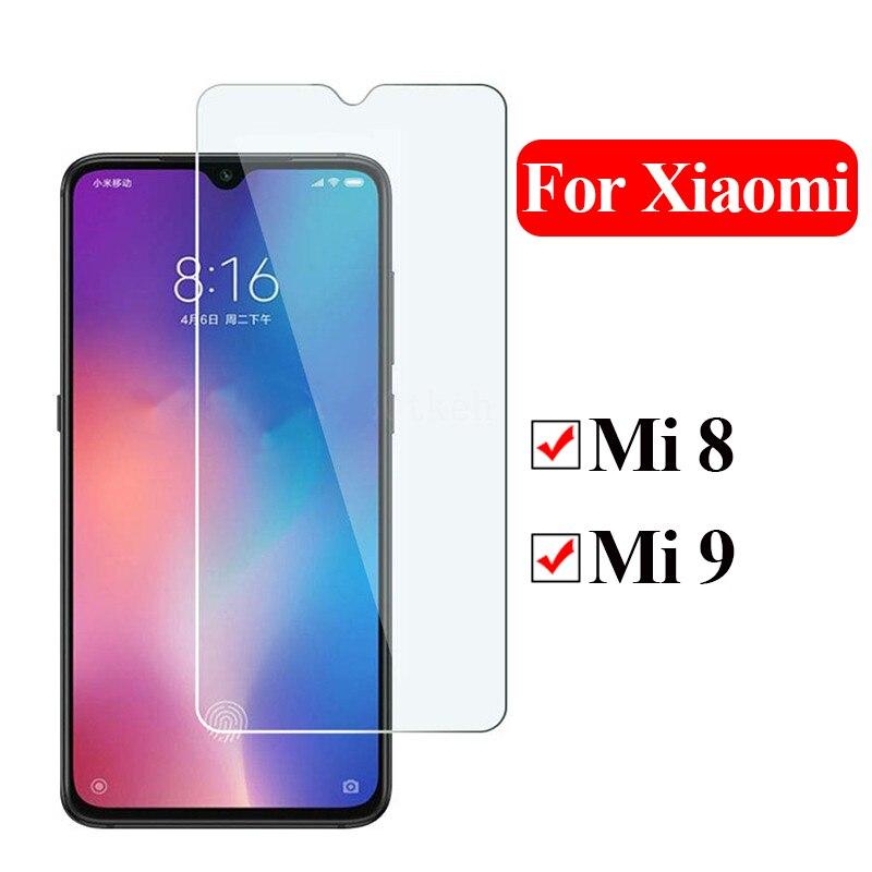 Vidrio templado para Xiaomi mi 8 Lite funda de teléfono Protector de pantalla de vidrio para Xiaomi 8 9 mi 8 película protectora ligera mi 9 8 Lite