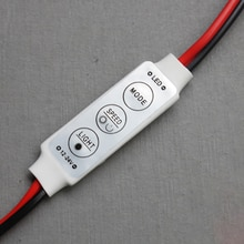 12V 6A 72W LED Strip Mini Controller 3-button Manual Dimmer Monochrome Brightness Switch Regulator 8-type Dynamic Mode