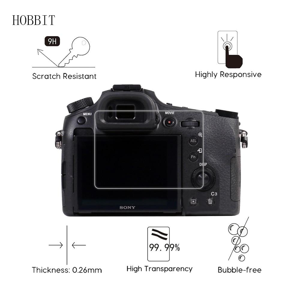 Para sony dsc rx10 rx10m2 rx10 rx10m3 rx10m4 rx10m5 rx1 0.3mm 2.5d 9 h claro vidro temperado protetor de tela câmera digital filme