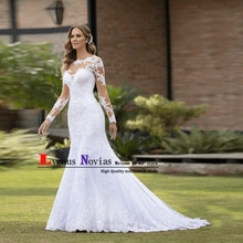 Vestido de Casamento Sexy Boho Wedding Dress 2020 Brautkleid Wedding Gown Vintage Lace Long Sleeve Wedding Dresses Robe Mariage