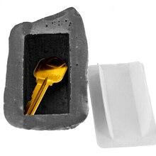 Outdoor Ersatz Schlüssel House Safe Versteckte Ausblenden Lagerung Sicherheit Rock Stein Fall Box
