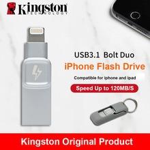 Kingston Bolzen USB 3,0 Flash drive Memory Stick für Apple iPhone & iPads mit iOS 9,0 pendrive mfi zertifiziert metall cle usb Disk
