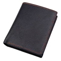 j m d real cow leather wallet business casual wallet man cash purses card holder with coin pocket 8152a