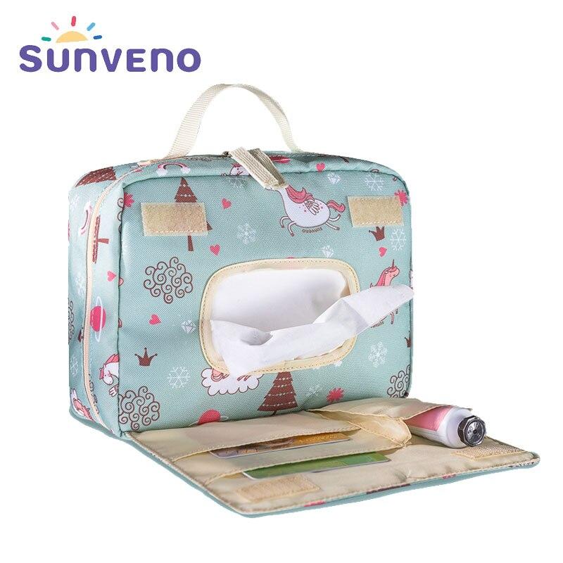 Сумка для подгузников Sunveno, водонепроницаемая, многоразовая, для мам