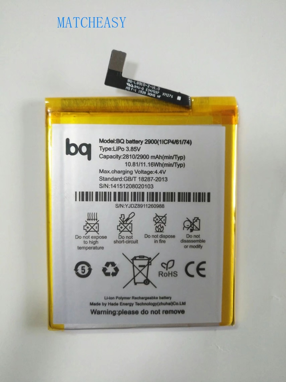 High Quality 2900mAh battery For BQ Aquaris X5 BQ battery 2900 Bateria Batteries enlarge