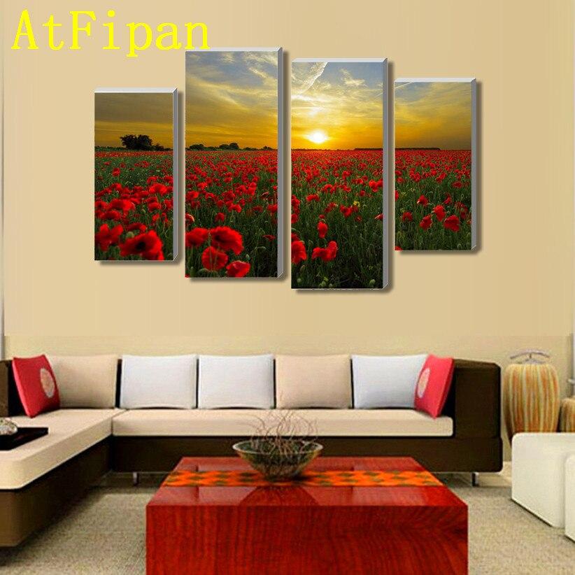 Atfipan без Рамки Высокое качество цветы холст картина самым высоким рейтингом