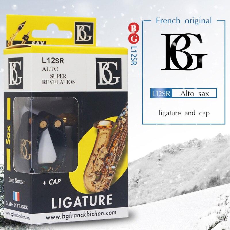 France original BG ligature Bb soprano ténor Eb alto baryton saxophone et clarinette embout utilisation L12SR L13SR L14SR L15SR L4SR