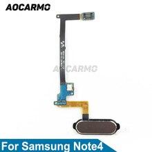 Aocarmo accueil bouton empreinte digitale câble de remplacement blanc/noir/or/rose pour Samsung Galaxy Note4 N910/N910A/N910T/N91