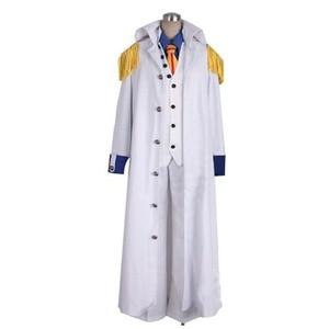 2018 One Piece Admiral Aokiji Kuzan Cosplay Costume Marine Costume