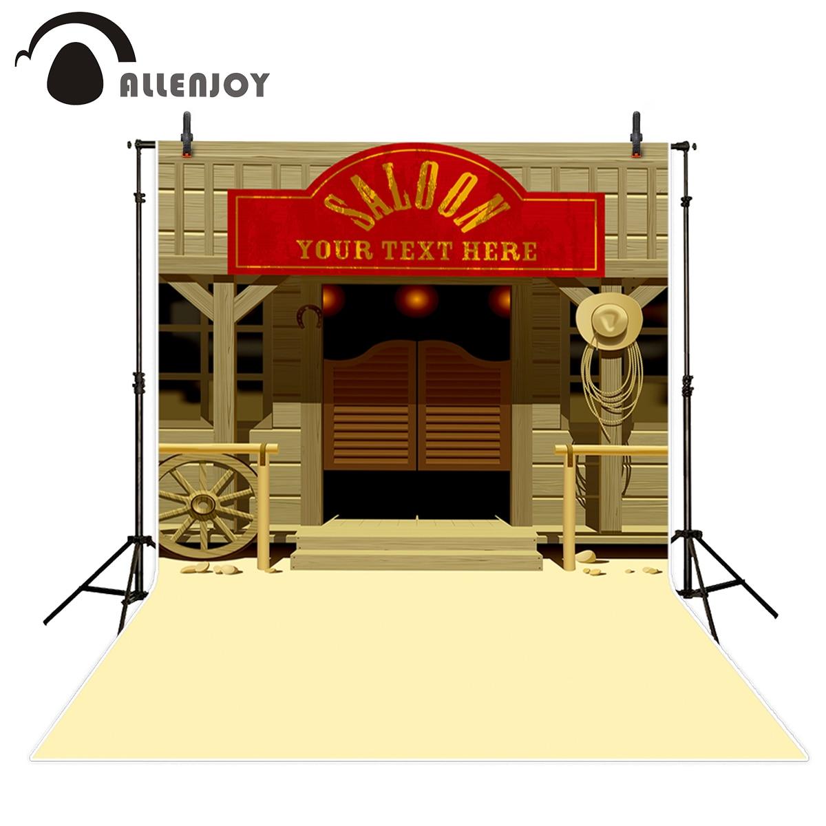 Allenjoy fondos para foto estudio Salvaje Oeste rojo letrero vaquero FONDO DE granero fotografía photocall impreso profesional