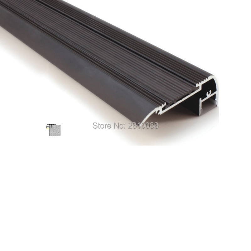 50 X 2M Sets/Lot stair step led strip aluminum channel and black finished aluminium led extrusion profiles for theater lights